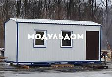 Бытовка строительная (6 х 2.4 м.), металлический каркас, 2 окна, на лижах, на основе металлокаркаса., фото 2