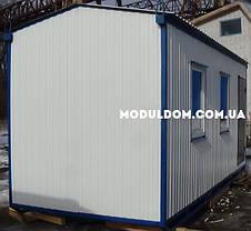 Бытовка строительная (6 х 2.4 м.), металлический каркас, 2 окна, на лижах, на основе металлокаркаса., фото 3
