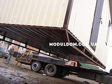 Бытовка строительная (7 х 2.4 м.), металлический каркас, отделка OSB, 1 окно., фото 3