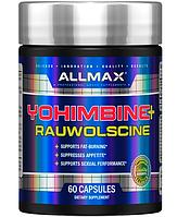 Allmax Yohimbine + Rauwolscine 60 сaps, фото 1