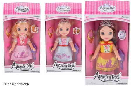 Кукла 32см XD10-2/3/5 принцесса 3в.кор.18*9*35 ш.к./72/, фото 2
