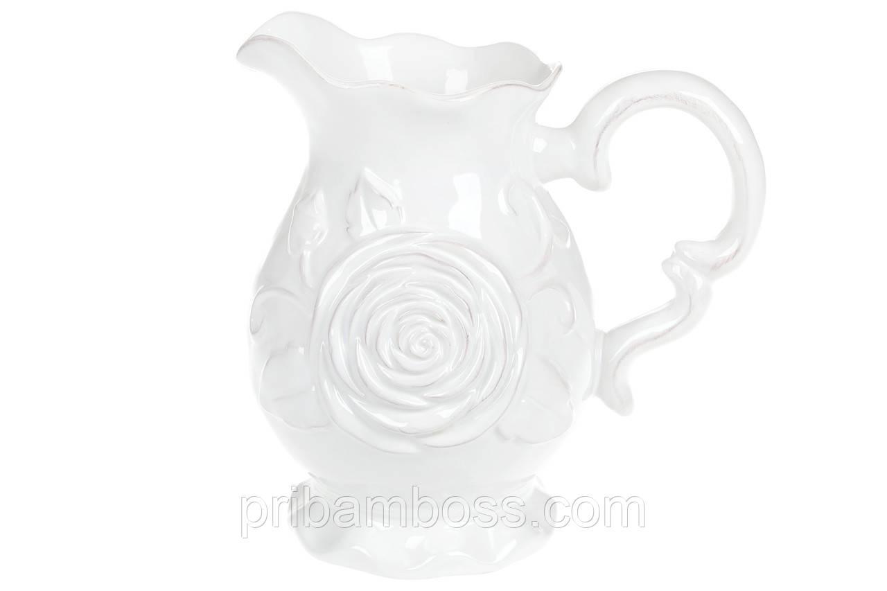 Кувшин керамический 1.75л Аэлита, цвет - белый