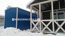 Вагончик, склад-раздевалка (12 х 2.5 м.) для спецодежды, на основе цельно-сварного металлокаркаса., фото 2