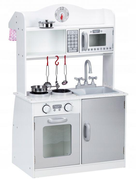 Дитяча дерев'яна кухня EcoToys PLK530 + 5 аксесуарів (9070)