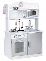 Детская деревянная кухня EcoToys PLK530 + 5 аксессуаров (9070)