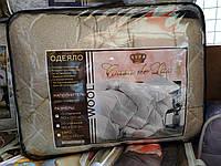 Одеяло шерстяное двуспальное Casa de Lux, наполнитель овечья шерсть, размер 180х220см, фото 1
