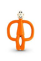 Игрушка - грызунок Обезьянка, цвет оранжевый, 10,5 см, Matchstick Monkey, фото 1