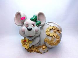 Копилка Мышь 24х24 см, Копилка мышь, подарок на Новый Год 2020, копилка символ Нового Года
