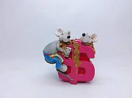 Копилка Мышь 7,5х12 см, Копилка мышь, подарок на Новый Год 2020, копилка символ Нового Года