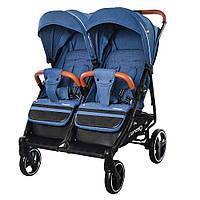 Коляска прогулочная для двойни CARRELLO CRL-5502 Evening Blue
