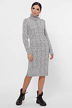 Стильное повседневное платье с воротником под горло цвет черный, фото 3