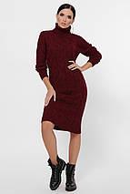 Стильное повседневное платье с воротником под горло цвет черный, фото 2