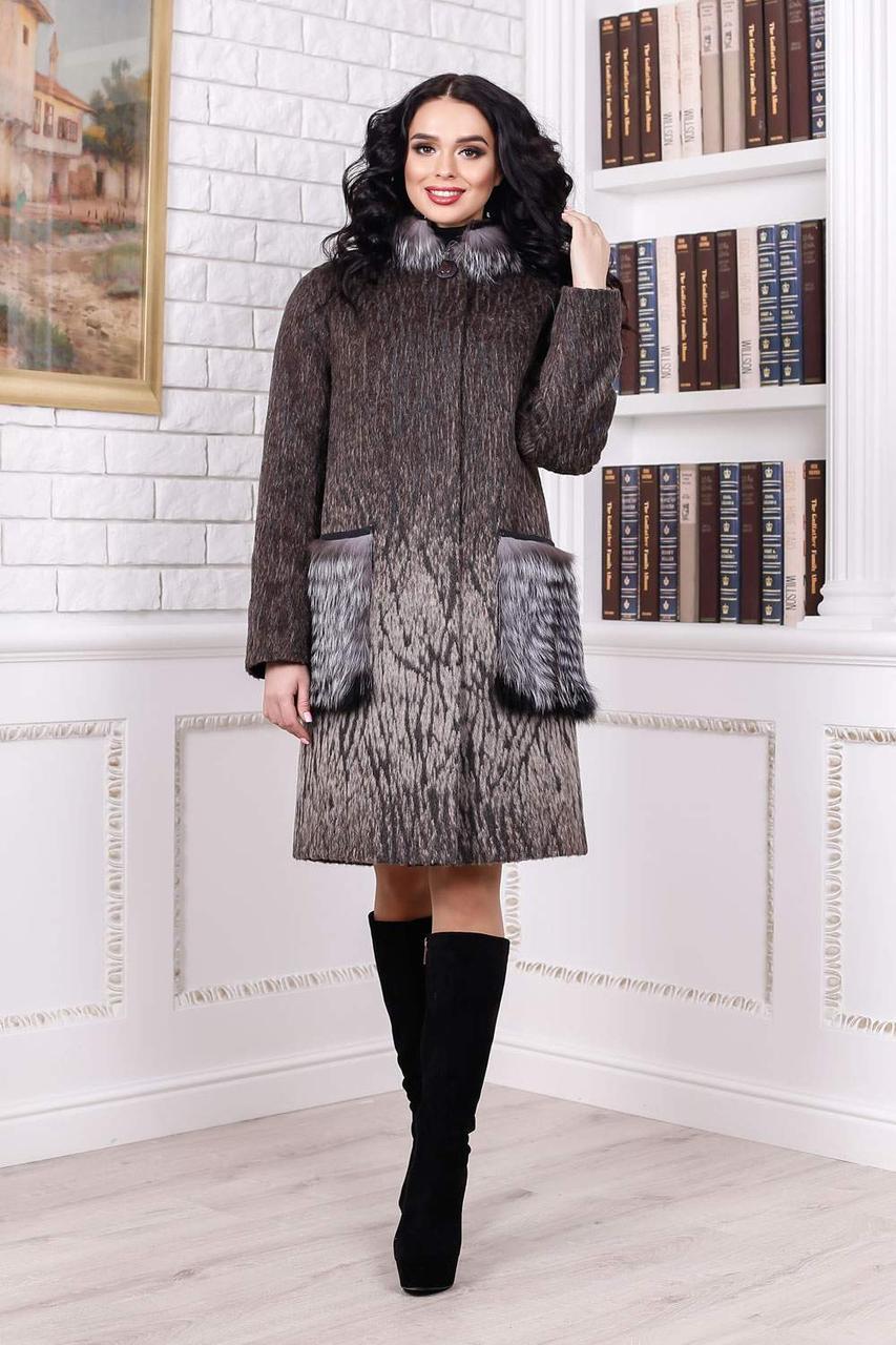 Пальто женское зимнее  П-996 н/м Sanaz- C Тон 108 | 44, 54, 56, 58р.