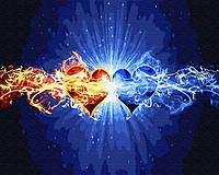 Картина по номерам на холсте Стихия сердец, GX30107