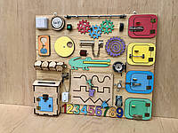 Развивающая игрушка, пазл, БИЗИБОРД 70Х60