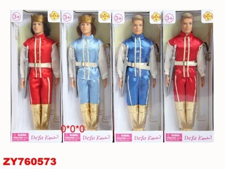 Кукла DEFA 8374 принц 2в.2цв.кор.32*5,5*12 /48/