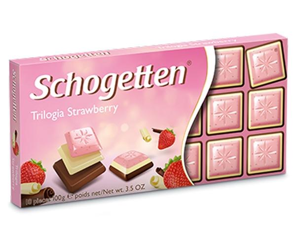 Молочний шоколад Schogetten Полунична Трилогія 100 г