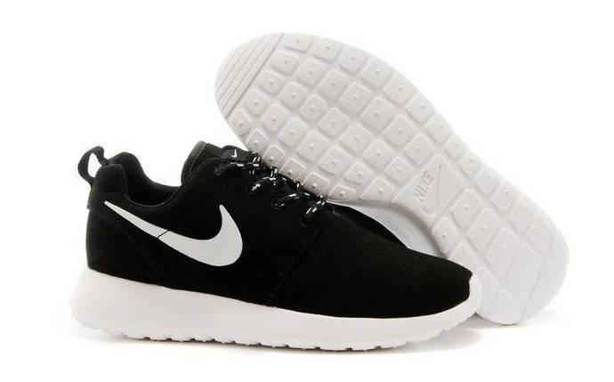 Кроссовки мужские NIKE Roshe Run Замш (черно-серый), фото 2