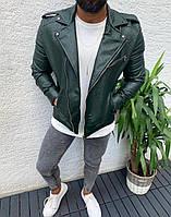Мужская косуха темно-зеленая 5554-7, фото 1