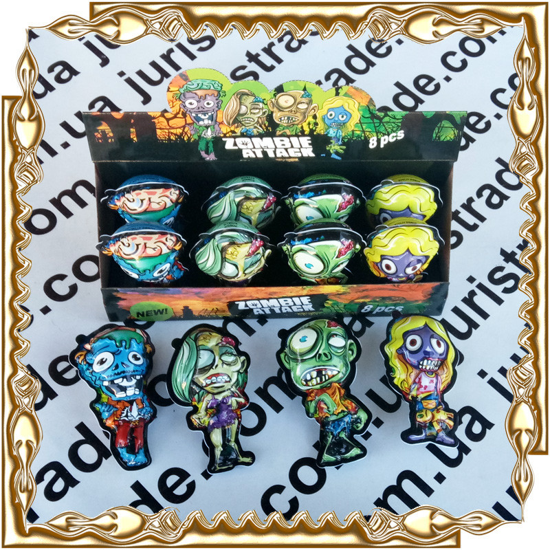 Яйце фігурка джой Zombie Attack (зомбі) 5 р. 8 шт./уп.