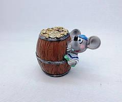 Копилка Мышь 8х8,5см, Копилка мышь, подарок на Новый Год 2020, копилка символ Нового Года