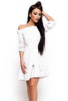 (S-M) Жіноче біле плаття-міні Milana