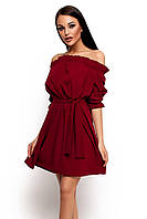 (S-M) Жіноче марсалове плаття-міні Milana