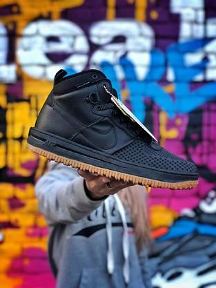 Кроссовки Nike LF1 DUCKBOOT 16 черные-коричневые, фото 2