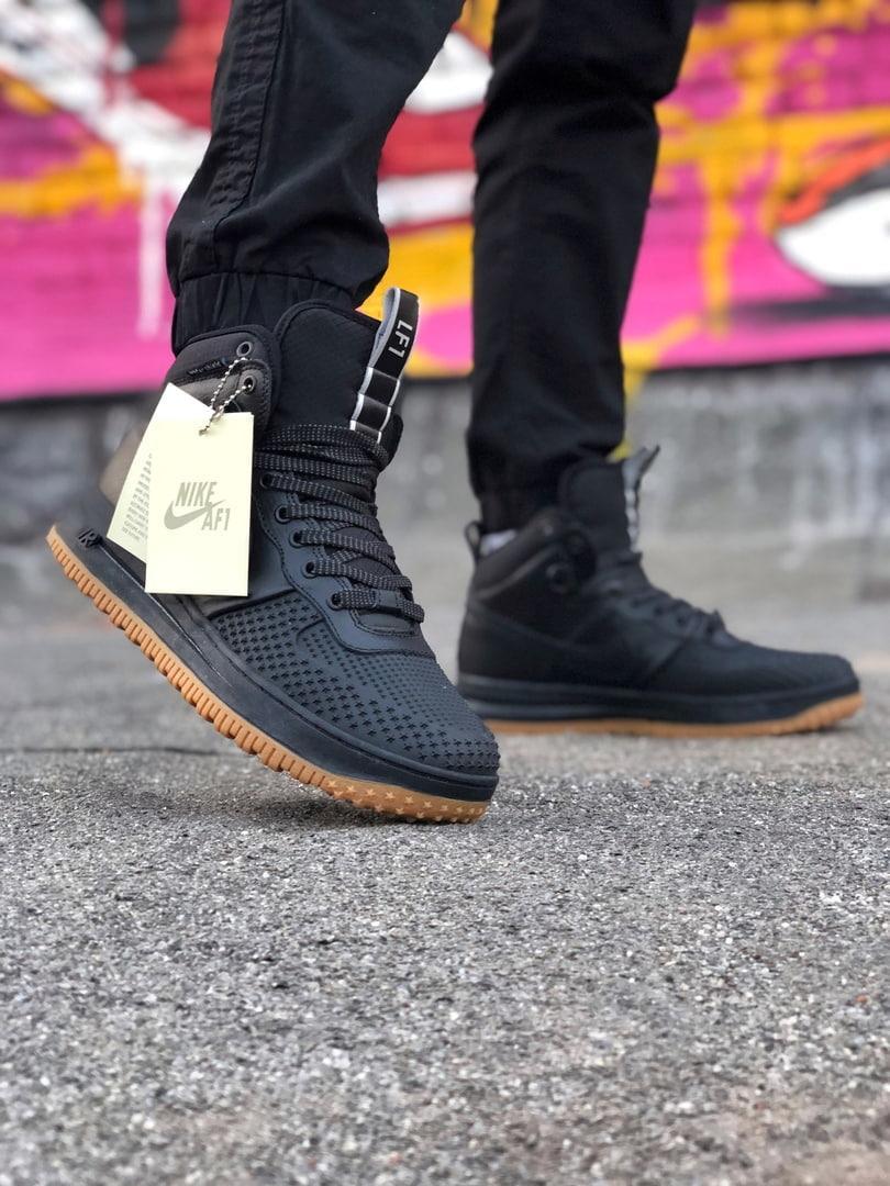 Кроссовки Nike LF1 DUCKBOOT 16 черные-коричневые