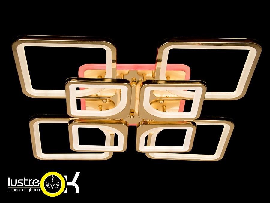Акриловая люстра Люстра светодиодная потолочная 8060/4+4 G LED 3color dimmer