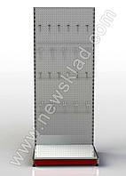 Металевий торговий стелаж перфорований 1600*950 мм, фото 1