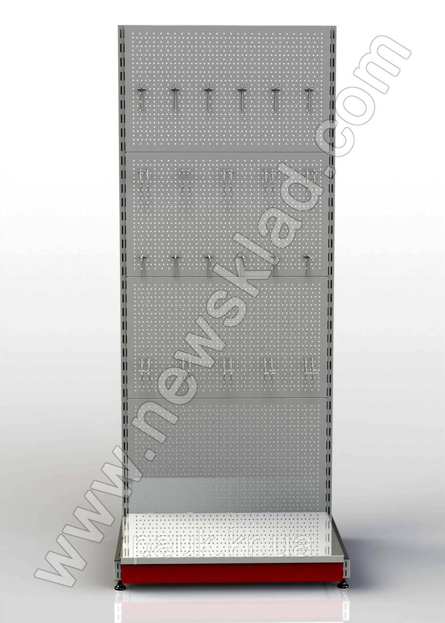 Стеллаж металлический приставной перфорированный 2100 * 950 мм, фото 1