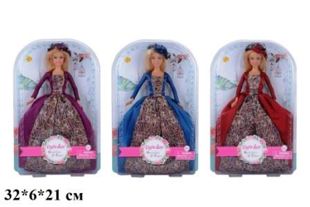 Кукла DEFA 30см 8407 принцесса 3цв.лист 32*6*21 /24/