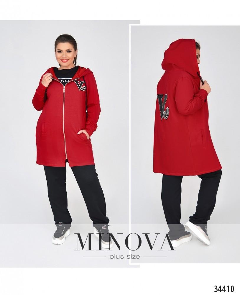 Тёплый, мягкий и очень уютный костюм на каждый день №721-красный