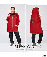 Тёплый, мягкий и очень уютный костюм на каждый день №721-красный, фото 1