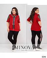 Симпатичный костюм спортивно-городского стиля №746-красный, фото 1