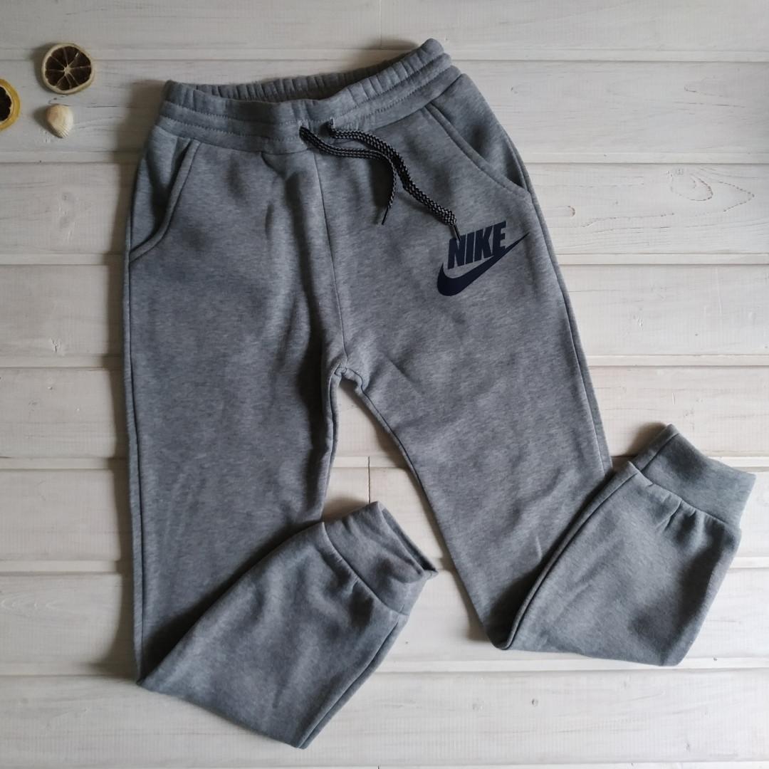 ✅Спортивні штани з начосом для хлопчика сірі Зростання 128