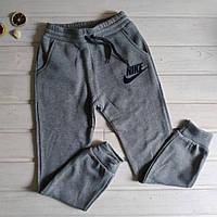 ✅Спортивні штани з начосом для хлопчика сірі Зростання 128, фото 1