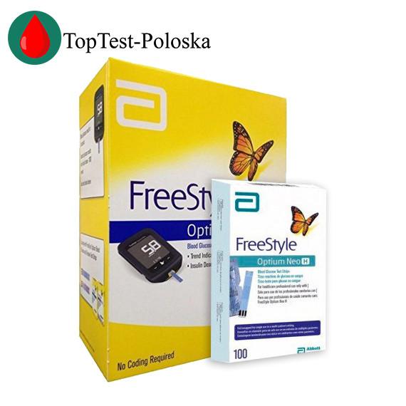 Глюкометр FreeStyle Optium Neo + 100 тест полосок FreeStyle Optium H