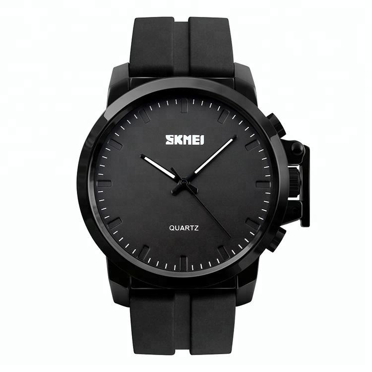 Skmei 1208 черные с черным циферблатом мужские классические часы