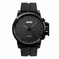 Skmei 1208 черные с черным циферблатом мужские классические часы, фото 1
