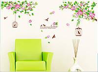 Интерьерная наклейка на стену Весна (bAM818) 170x70см
