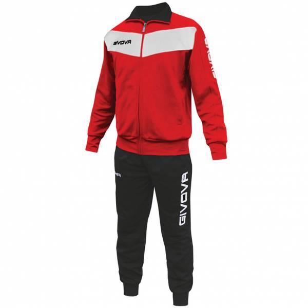 Спортивный костюм Givova Tuta Visa (красный-белый / черный) - Оригинал