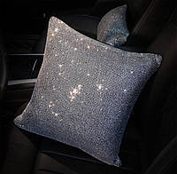 Подушка в стразах кристалл для салона автомобиля, фото 1