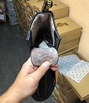 Женские зимние ботинки Dr. Martens 1460 Patent Black с мехом, фото 3