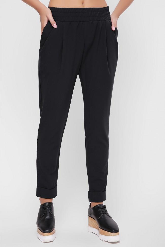 """Женские брюки """"Ashley"""" черного цвета из костюмной ткани"""