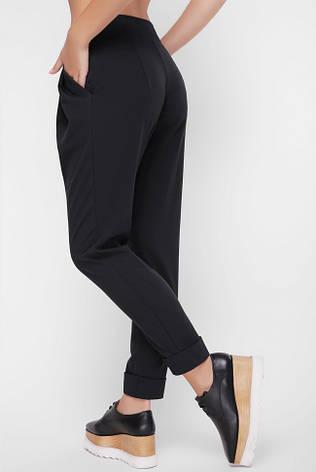 """Женские брюки """"Ashley"""" черного цвета из костюмной ткани, фото 2"""