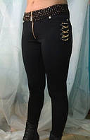 Стильные стрейчевые брюки лосины, р.42,44,46,48 маломерка
