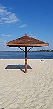 Пляжний зонт з дерева