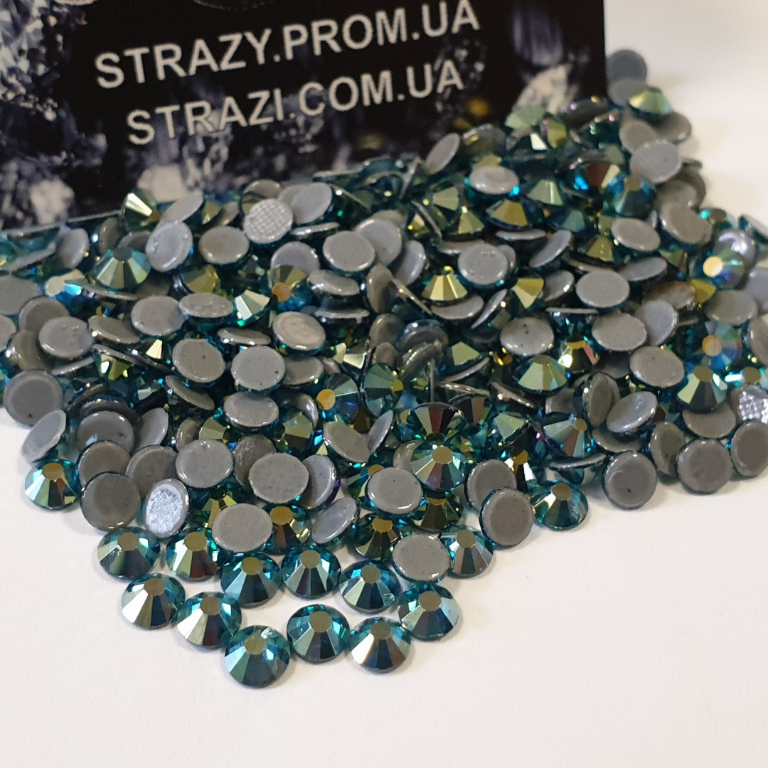 "Термо-стразы ss16 Blue Zircon AB 1440шт, (4,0мм) ""Crystal Premium"""